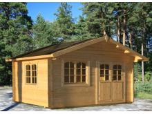 Fabrication spéciale votre abri en sapin 19,01 m² utile WW-49, épaisseur 70 mm