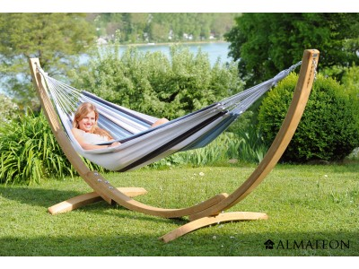 Top des ventes hamac apollo set marine support en bois toile almateon - Support hamac bois ...