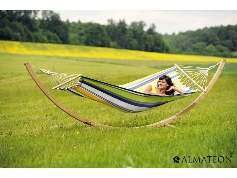 ensemble hamac support starset kolibri toile polyester et coton structure pic a almateon. Black Bedroom Furniture Sets. Home Design Ideas