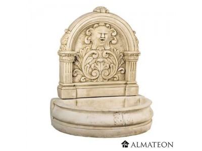 Destockage entrepôt enlèvement par vos soins -50% reste 1 fontaine FLORE en pierre reconstituée - grand format - ton pierre