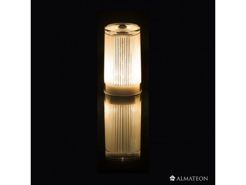 Lampe de table led sans fil plisee glitter almateon for Lampe exterieure sans fil