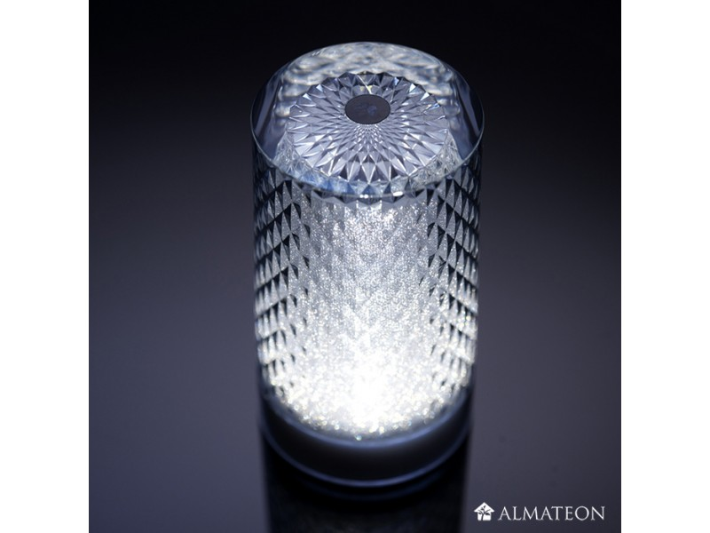 Lampe de table led sans fil venetian glitter almateon - Lampe de table led sans fil ...