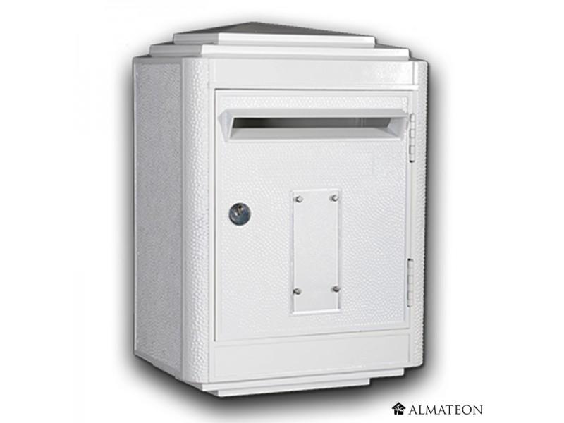 boites aux lettres officielle de la poste blanc almateon. Black Bedroom Furniture Sets. Home Design Ideas