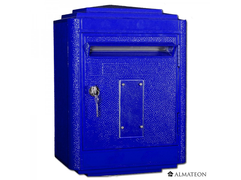 Boites aux lettres officielle de la poste bleu almateon grand format - Boites aux lettres la poste ...