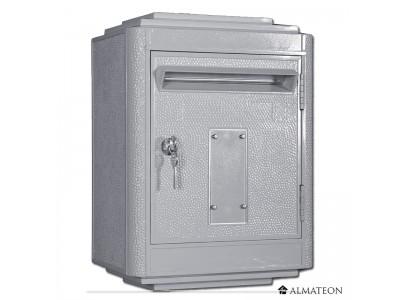 Boites aux lettres officielle de la poste gris anthracite almateon grand format - Boites aux lettres la poste ...