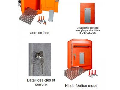 boites aux lettres officielle de la poste vert almateon grand format. Black Bedroom Furniture Sets. Home Design Ideas