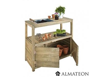 Table de pr paration en bois pour le jardinage dimensions - Table de jardinage en hauteur ...