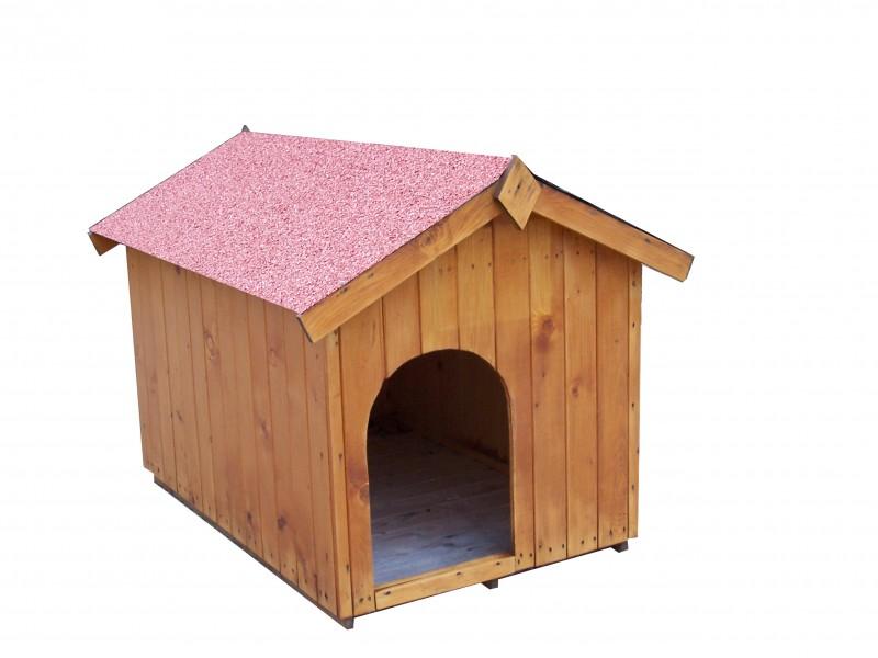 niche en bois bi pente pour moyen chien 0 96m2 toit bitum almateon. Black Bedroom Furniture Sets. Home Design Ideas