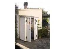 Edition limitée votre abri jardin résine mural bicolore,toit mono-pente, grosse épaisseur 22cm,1.32m2