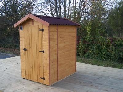Nouveau Spécial WEB -80€ votre abri toilettes sèches en panneaux de bois - 1,35 m²