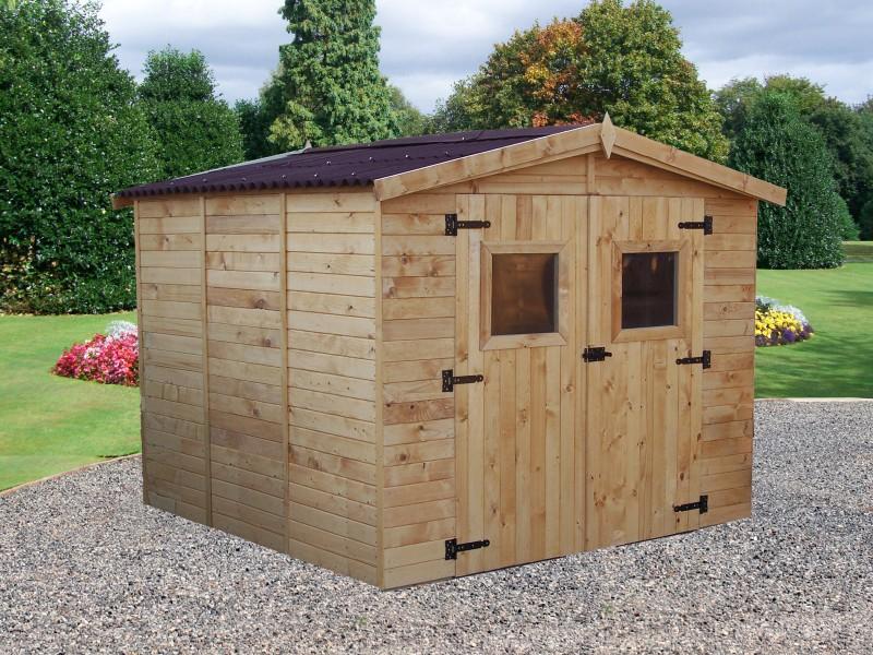 votre abri panneau bois massif avec plancher de 7 20 m2 almateon. Black Bedroom Furniture Sets. Home Design Ideas