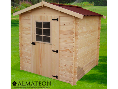 Opération grandes vacances votre Abri Madriers bois massif d'épaisseur 28 mm et de surface extérieure : 4,28 m2