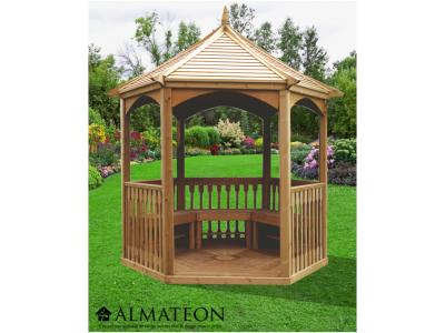 votre Pavillon hexagonal élégant de 4,74m2 en pin traité