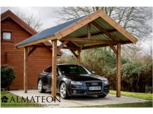 Promotion lancement WEB -200€ votre auvent THURAC 10,80m2 en bois thermo chauffé toit double