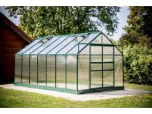 Opération rentrée votre serre jardin 10,37m2 structure aluminium couleur verte,SR 4224J