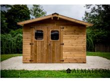 Abri THERMA de 10,33m2 toit double pente bac acier avec bois traité (thermo chauffé)