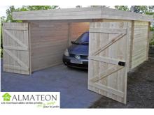 NOUVEAU votre garage toit plat de 21,46 m2 emboîtés 28 mm