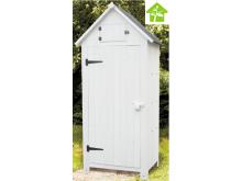 NOUVEAUTE votre armoire cabine de rangement lasurée finition blanc équipée de 3 étagères