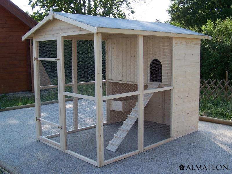 poulailler craig en pic a massif pour 6 10 poules almateon. Black Bedroom Furniture Sets. Home Design Ideas