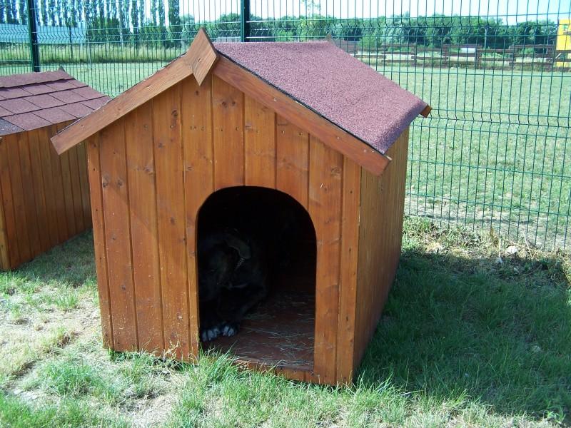 vente priv e 60 votre niche en bois neils pour gros chien 1 17m2 tr s grande taille almateon. Black Bedroom Furniture Sets. Home Design Ideas