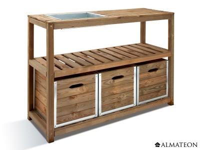 Table de préparation Choko en bois pour jardinage
