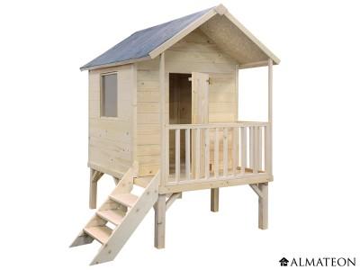 Maison surélevée en bois pour enfants Kangourou +, 167 x 181 x H 200 cm