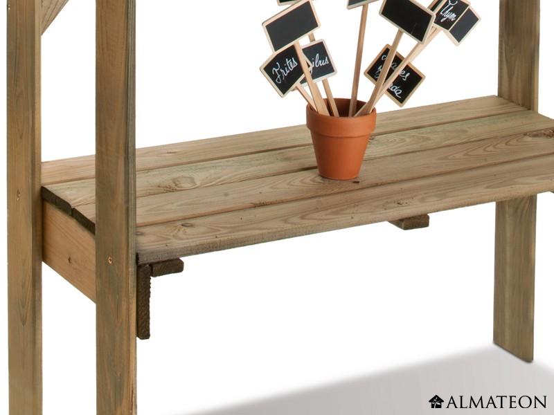 Table de préparation Easy en bois avec plateau en zinc  ALMATEON