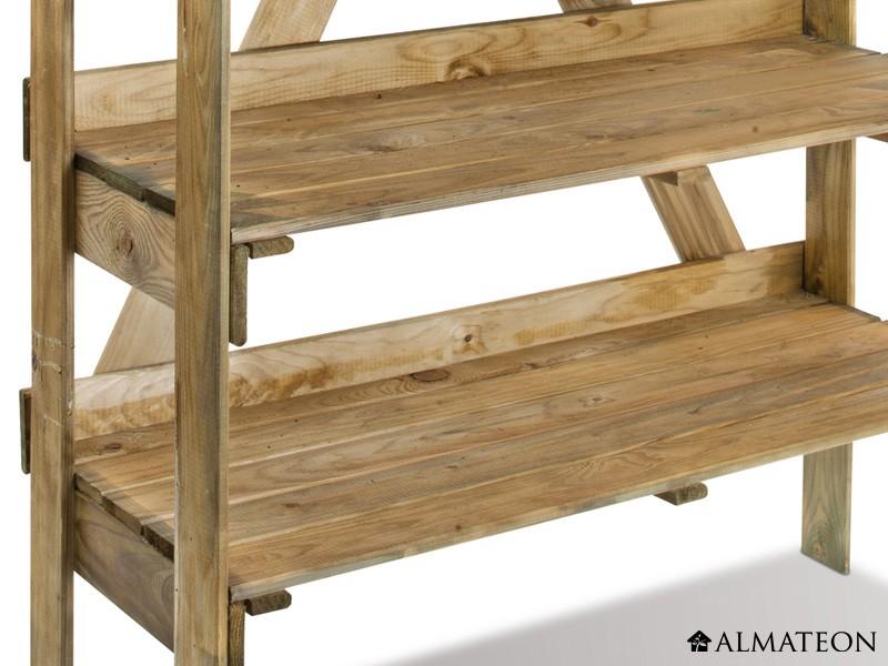 table de pr paration evolution en bois avec plateau en zinc almateon. Black Bedroom Furniture Sets. Home Design Ideas