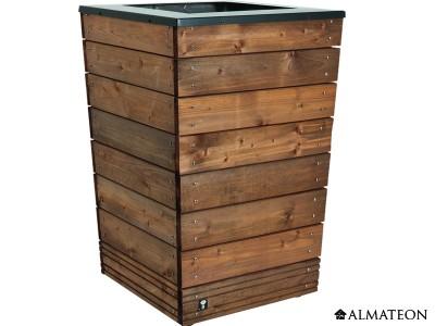 Bac à fleurs design en bois Collector, 90 L