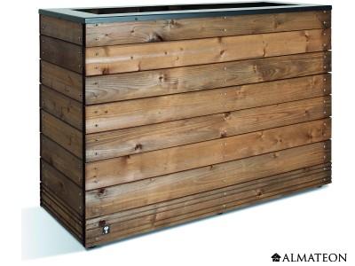 Bac à fleurs design en bois Collector, 179 L