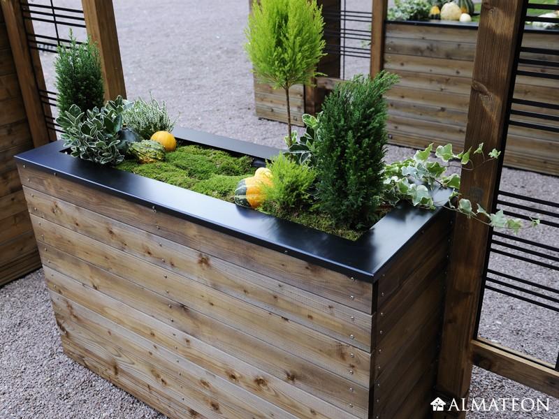 bac fleurs design en bois collector 133 l almateon. Black Bedroom Furniture Sets. Home Design Ideas