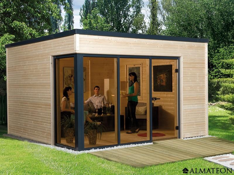 Abri en bois brut 11.4 m2 Cubilis 1 DESIGN, épaisseur 45 mm - ALMATEON bd813d06fc91
