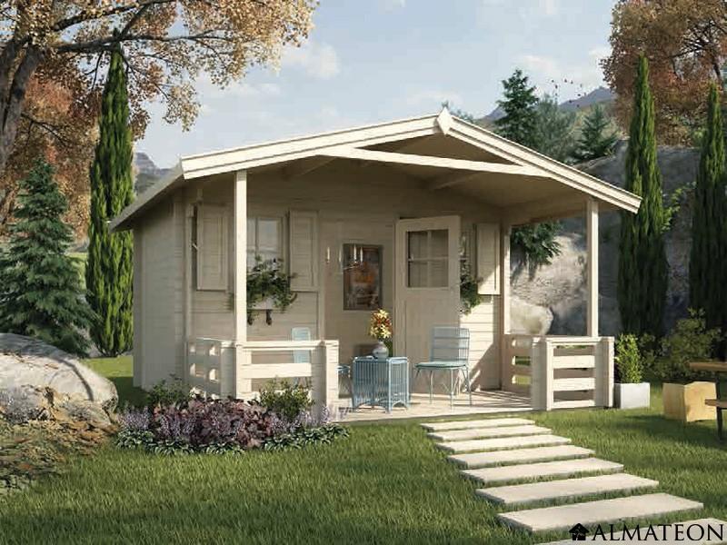 Abri en bois brut 22 0 m2 avec terrasse Zugspitze 3