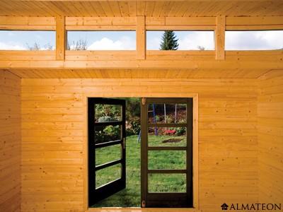 special ete votre abri en bois brut 9 0 m2 avant garde 1 paisseur 28 mm en 3 impostes almateon. Black Bedroom Furniture Sets. Home Design Ideas