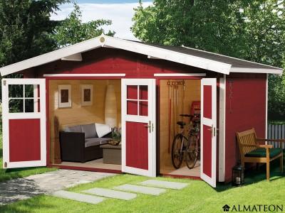abri en bois brut 2 pi ces 11 8 m2 hinterzarten 2 paisseur 28 mm almateon. Black Bedroom Furniture Sets. Home Design Ideas