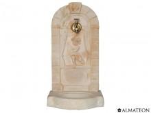 Opération ETE - 20€ votre fontaine murale aux angelots, en pierre, 42 x 37 x 82 cm, avec robinet