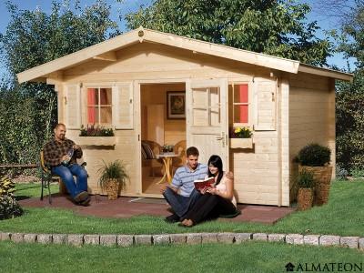 Abri en bois brut 11.4 m2, Konstanz 1, épaisseur 28 mm