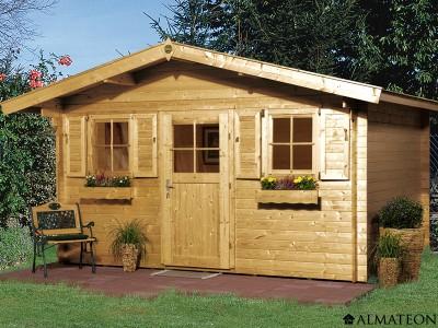 Abri en bois brut 14.4 m2, Konstanz 2, épaisseur 28 mm