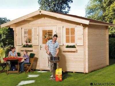 Abri en bois brut, 14.5 m2, Zugspitze 2, épaisseur 45 mm