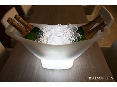 Seau à champagne lumineux sans fil - CHAMPAGNE