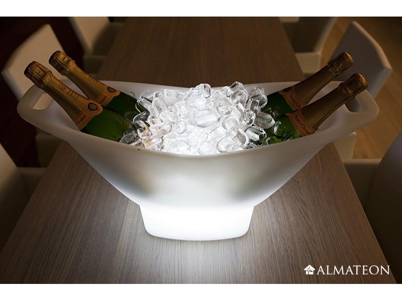Seau champagne lumineux sans fil champagne almateon - Seau a champagne lumineux ...