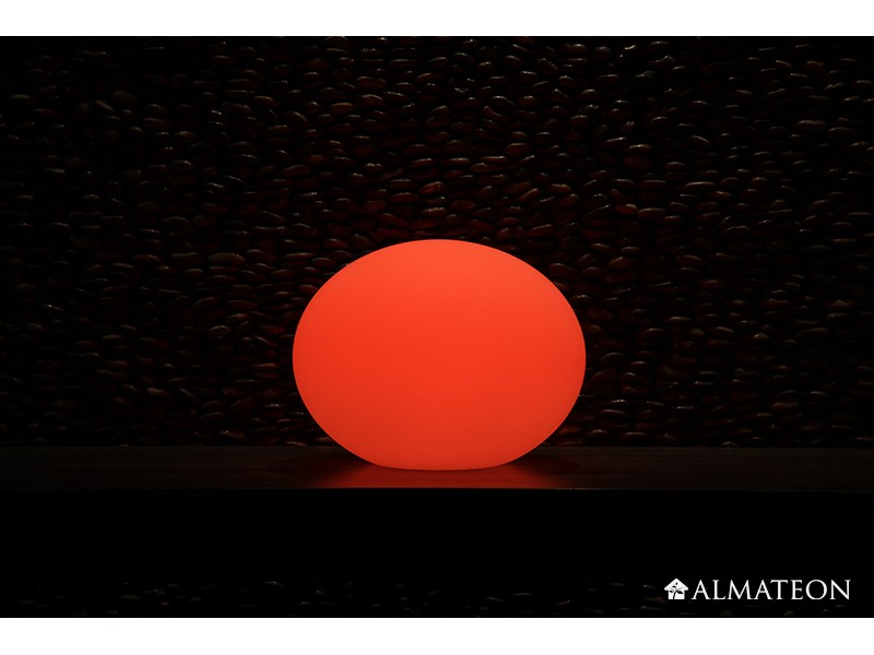 Lampe led sans fil flatball 3d imagilight almateon for Lumiere exterieur sans fil