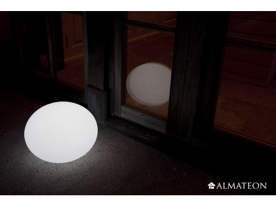 Lampe led sans fil ovali almateon for Lampe exterieure sans fil