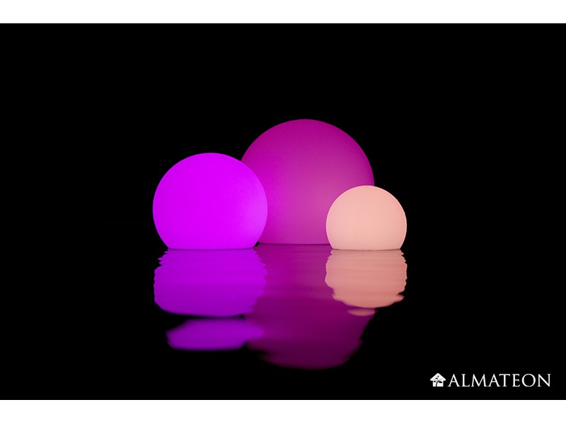 Lampe led sans fil ball almateon for Lampe exterieure sans fil