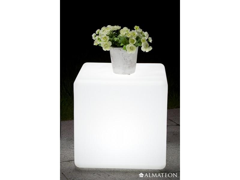 Lampe led sans fil cube almateon for Cube lumineux exterieur sans fil