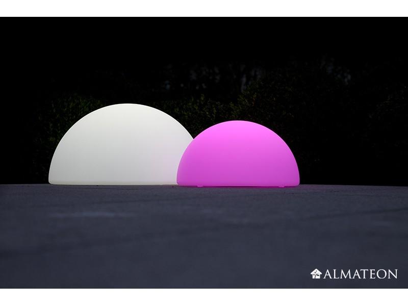 Lampe led sans fil halfball almateon for Lampe exterieure sans fil