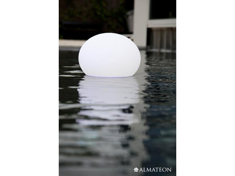 Lampe led sans fil halfball almateon for Lumiere exterieur sans fil