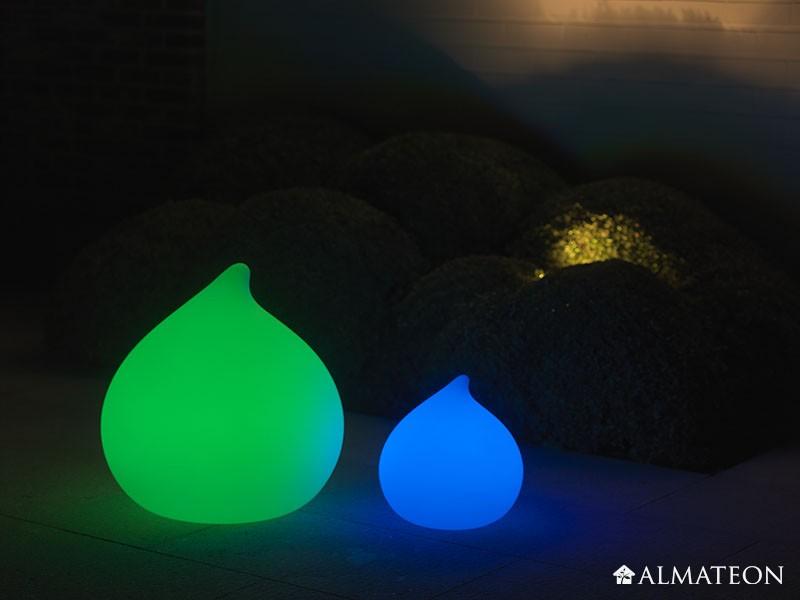 Lampe led sans fil teardrop almateon for Lumiere exterieur sans fil