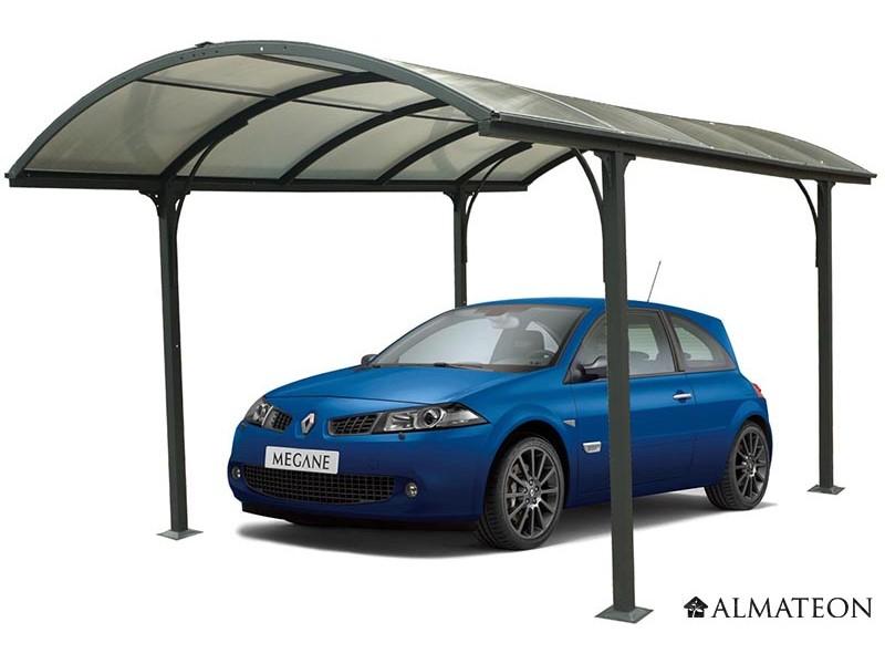 en avant premi re prix en baisse de 10 carport aluminium toit demi rond m anti uv. Black Bedroom Furniture Sets. Home Design Ideas