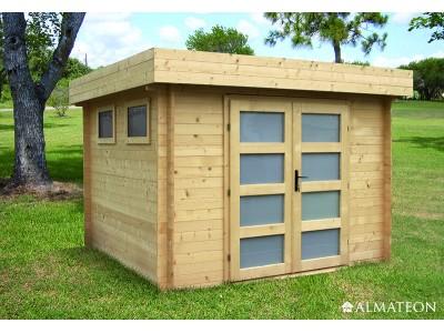 Abri en bois 6.7 m² Kivik, 28 mm